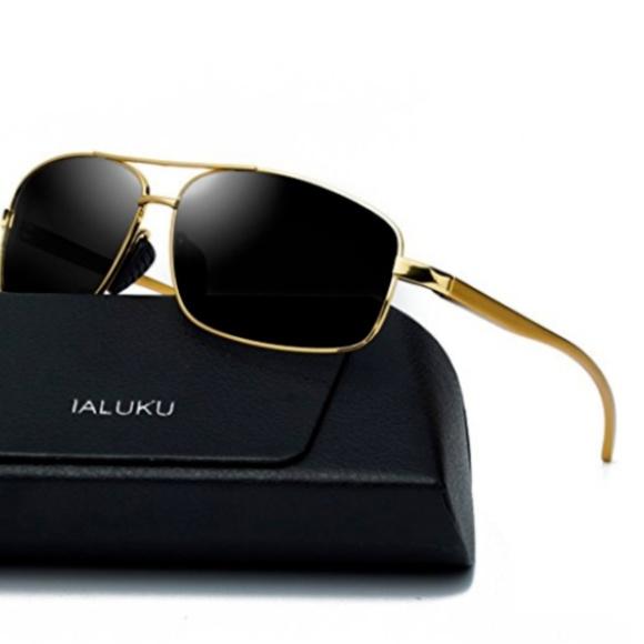 1f688e4489 Mens Polarized Square Retro Aviator Sunglasses